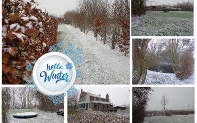 Winterwonderland op Camping De Lage Werf.