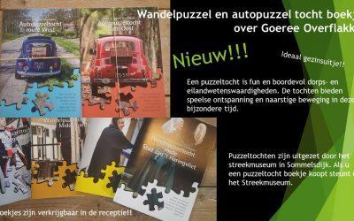 Wandelpuzzel en autopuzzel boekjes verkrijgbaar.