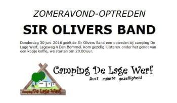 Zomeravond optreden Sir Olivers Band bij Camping De Lage Werf.