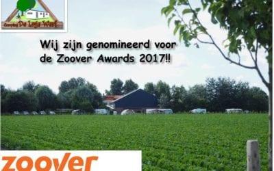 Genomineerd voor Zoover Awards 2017!!