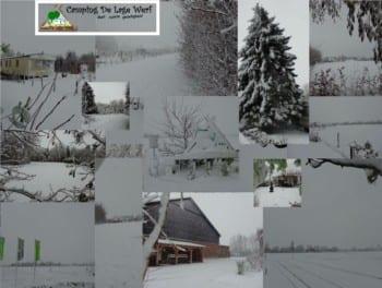 Sneeuw op Camping De Lage Werf.