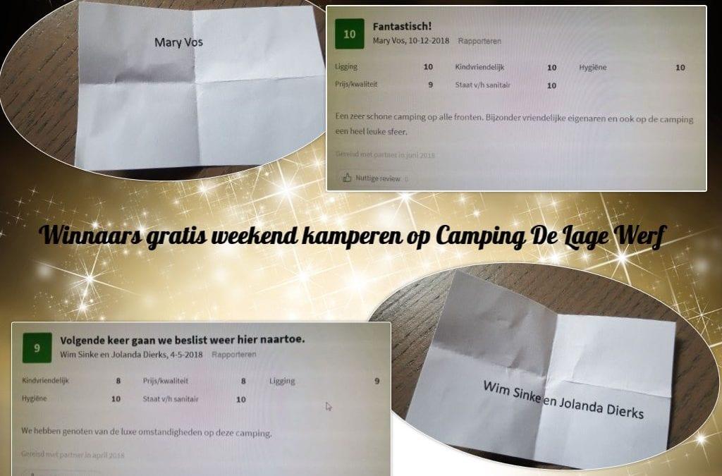 Verloting 2x gratis weekend kamperen op Camping De Lage Werf.